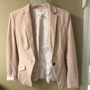 H & M blazer jacket peach/light pink Size 2